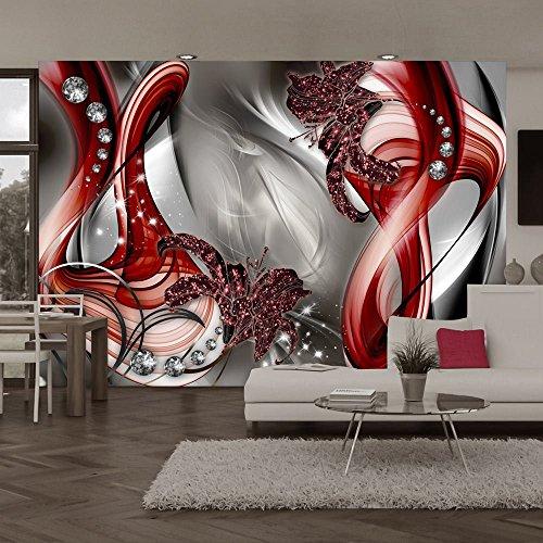 Vlies Fototapete 350x245 cm - 3 Farben zur Auswahl - Top - Tapete - Wandbilder XXL - Wandbild - Bild - Fototapeten - Tapeten - Wandtapete - Blumen Abstrakt a-A-0221-a-c