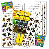 Lego Batman Stickers Party Favors Pack - 16 Sheets of Lego Batman Stickers Bundled with 2 Specialty Separately Licensed GWW Reward Sticker