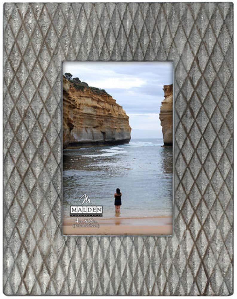 Malden International Designs Fashion Woods Serra Picture Frame, 4x6, Gray by Malden International Designs