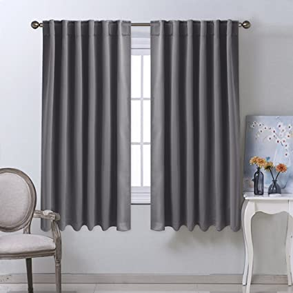 Amazon.com: NICETOWN Blackout Curtain Panels for Living Room - (Grey ...