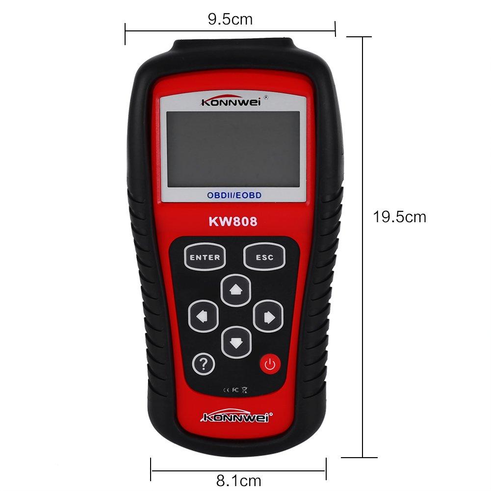 Cusco KW808 OBD2 EOBD Appareil Diagnostique Auto Scanner Testeur Lecteur de Code Voiture Affichage LCD
