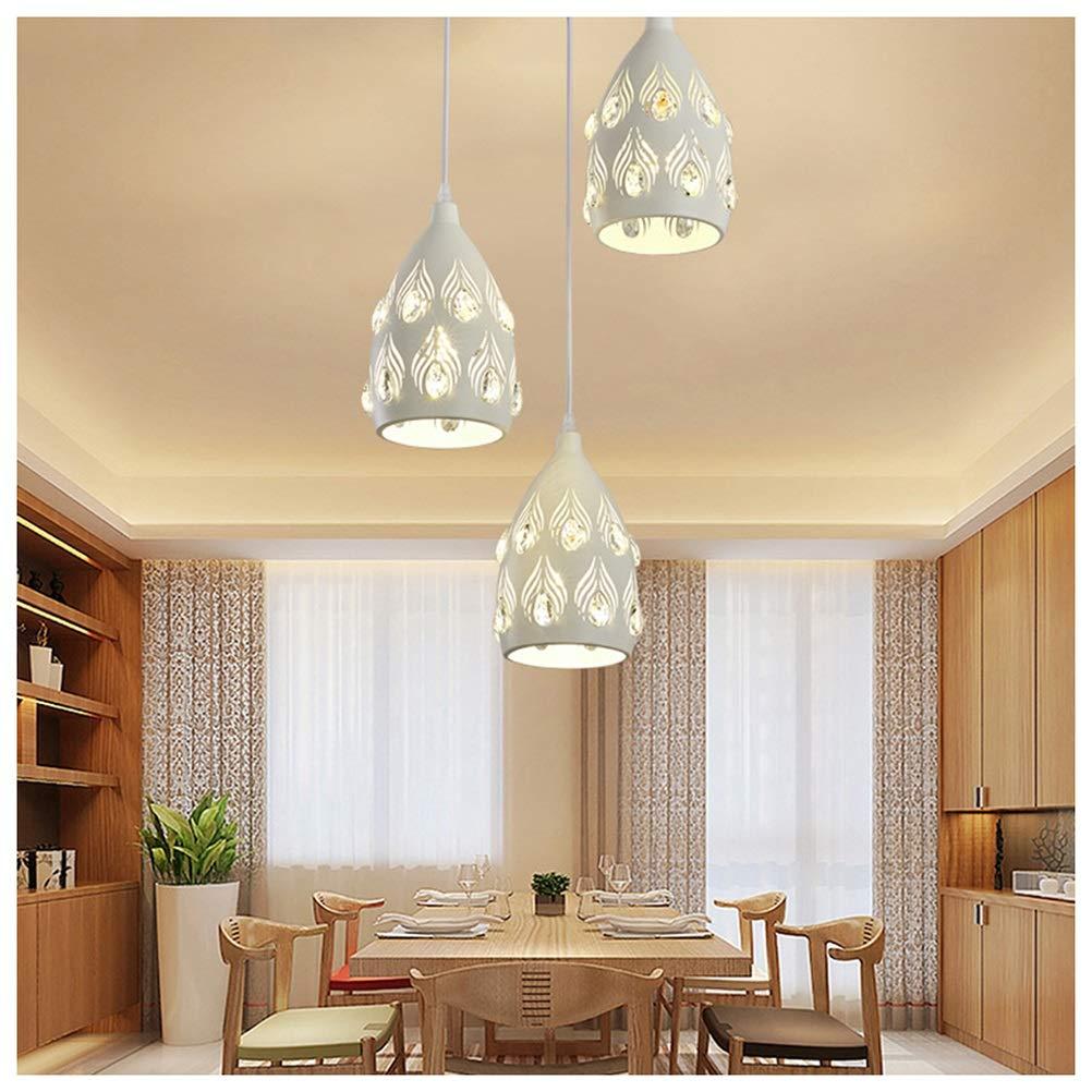 天井照明シャンデリア ファッションホームフィクスチャモダンボタンスタイルシャンデリアクリスタルledハングランプシンプルな寝室のシーリングライト   B07TQM8FQY