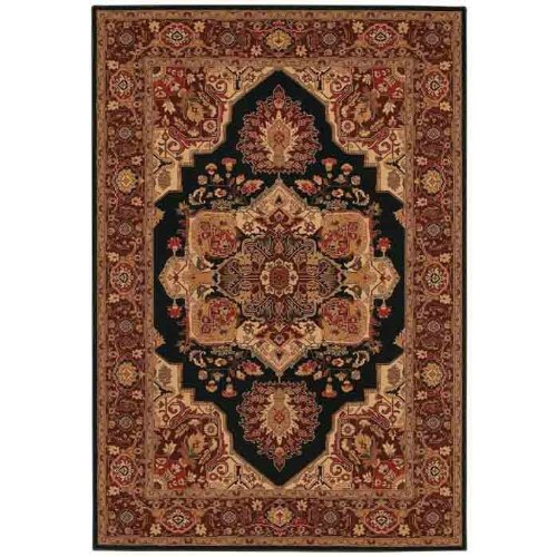 Couristan 2829/5123 Everest Antique Sarouk Area Rugs, 9-Feet 2-Inch by 12-Feet 5-Inch, Black
