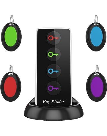 AOGUERBE Localizador de llaves Wireless Key Finder Buscador de Llaves Inalámbrico con Base de Soporte LED