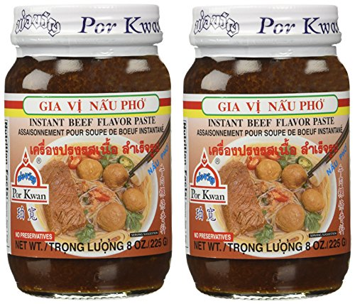 Vietnamese Beef - Por Kwan Pho Vietnamese Beef Flavor Paste - 8 oz x 2 jars