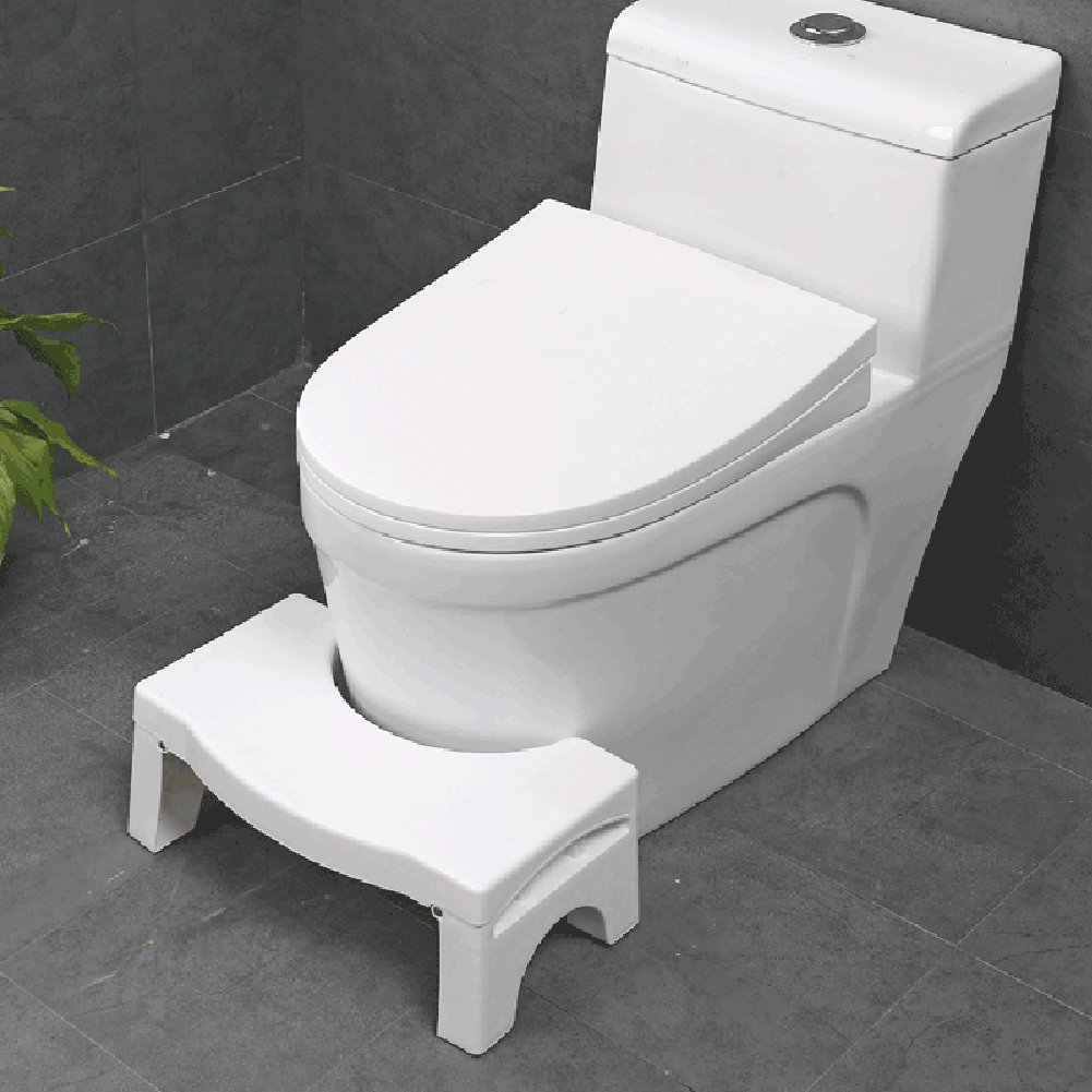 Squatting Toilet Stool, Luerme Folding Potty Foot Rest Stool Non-Slip Bathroom Step Up Stool Squat Aid for Constipation Piles Relief