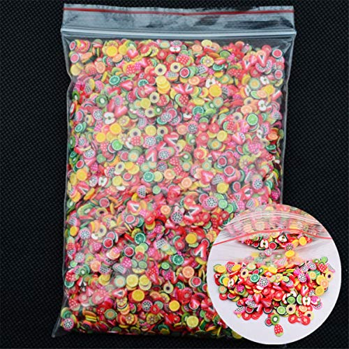 10000pcs/pack Nail Art Stickers 3D Nail Art Fruit Flower Slices Polymer Clay DIY Beauty Nail Slice Decoration (Fruit)