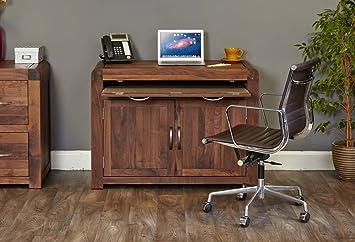 Shiro Walnut Hidden Home Office Amazoncouk Kitchen  Home