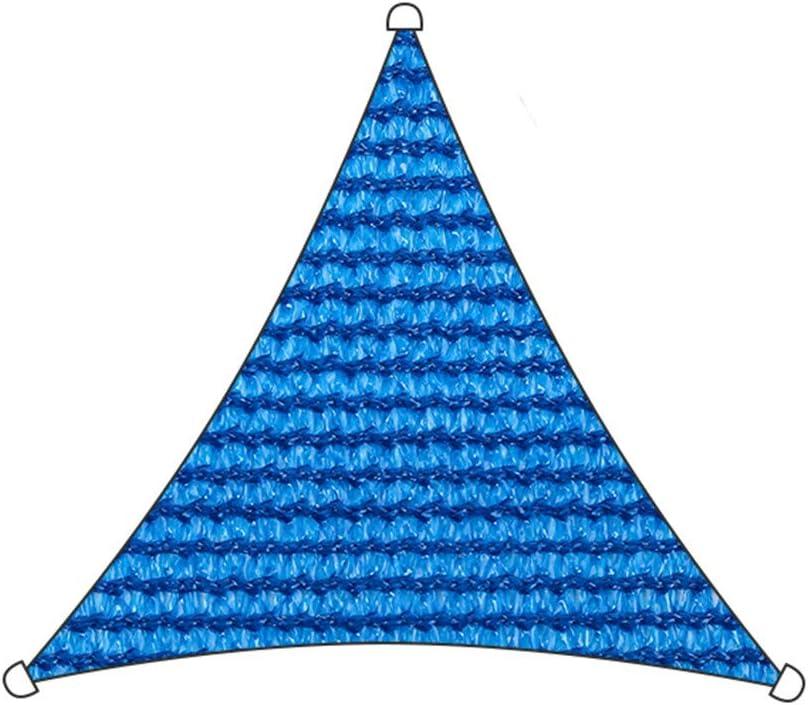 Sun Shade Sail Triangle para Patio Pérgola Sun Sail Shade UV Bloque De Protección Solar Sombrilla,Bloque UV Permeable De 185 gsm, Tela Duradera,Blue3.6m×3.6m×3.6m: Amazon.es: Hogar