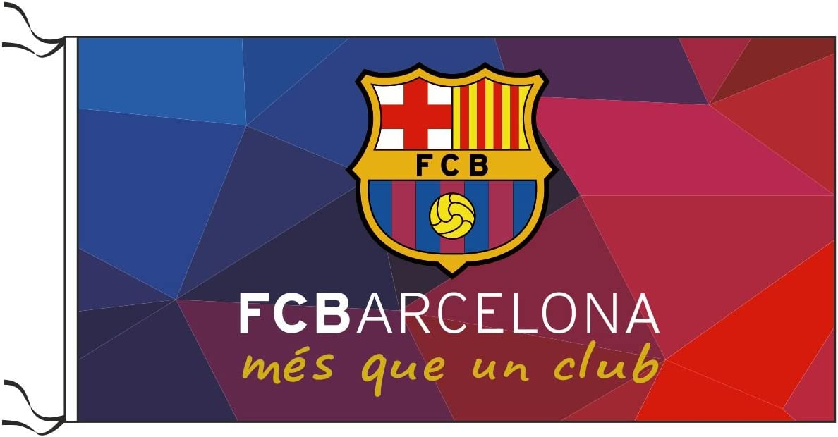 F C Barcelona Flag Messi Fcb Mes Que Un Club 5x3 Ft Amazon Ca Sports Outdoors