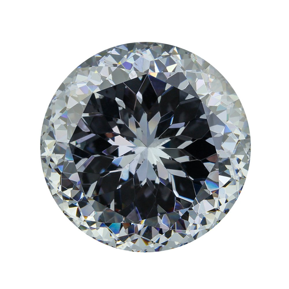 Giant ''diamond'' big gem Round Cubic Zirconia Resplendent Whtie 30mm-100mm for Office / home decoration,Gift boxed (65mm)