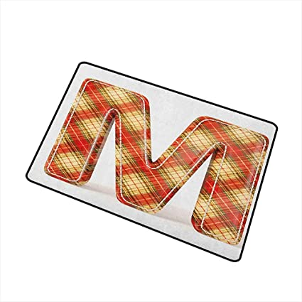 Amazon.com: Wang Hai Chuan Letter M Front Door mat Carpet ...
