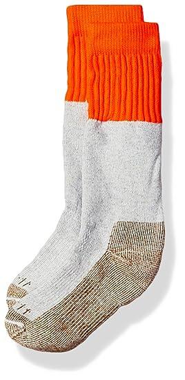 5562d36a7943e Carhartt Boys' Little Cold Weather Boot Sock, orange/white Shoe Size: 9