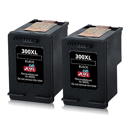 JIMIGO 300 XL 300XL Cartuchos de Tinta Remanufacturado HP 300 Negro HP300 Tinta Compatible con PhotoSmart C4680 C4780, Envy 110 120 100, Deskjet F2480 ...