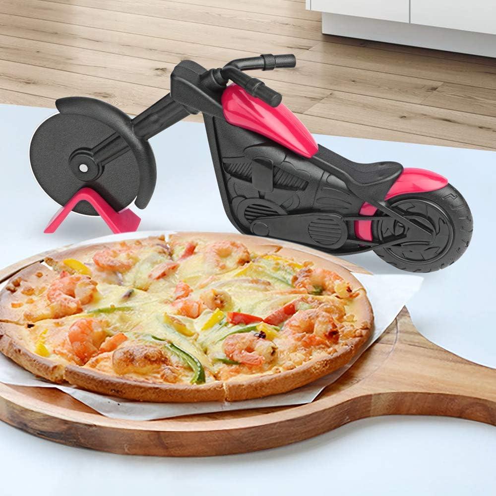 KUONIIY Cortador de Pizza Para Motocicleta, Rueda de Pizza ...