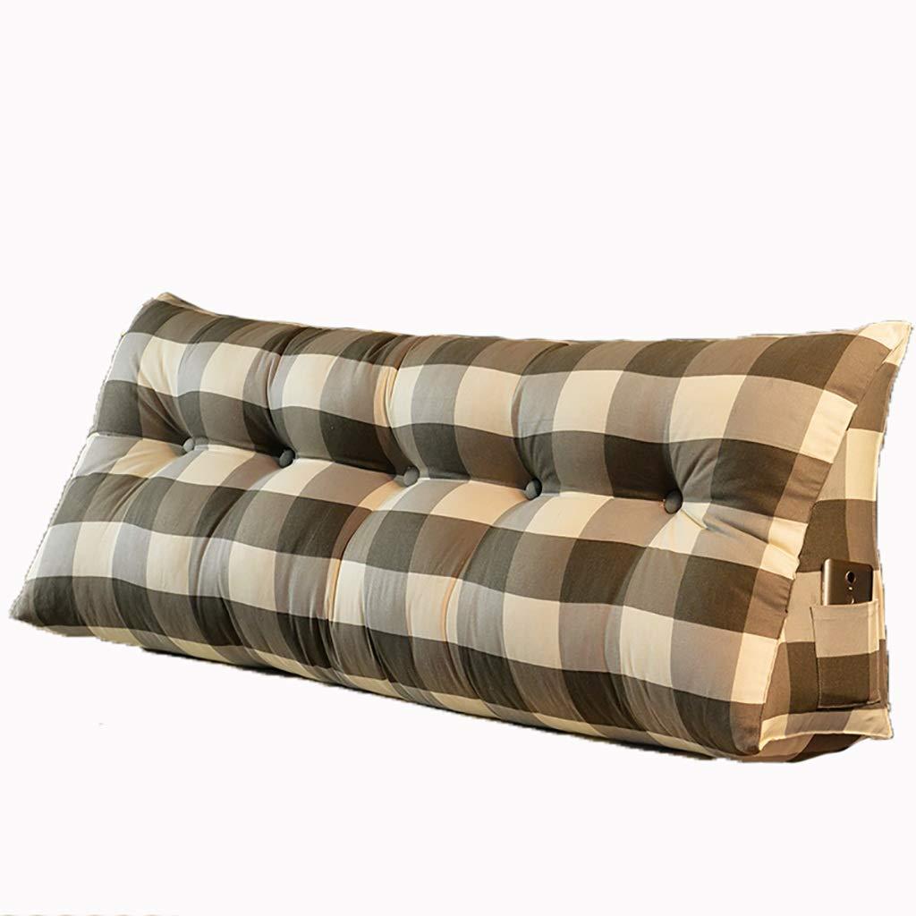 ベッド枕 マルチパターン選択ベッドロングピローヘッドボードソフトバッグトライアングルダブル畳布クッションピロー大背もたれ取り外し可能で洗えるサイズ90 cm-200 cmオプション 写真ベッド枕首まくら (色 : V, サイズ さいず : 180cm) B07RV9KFB5