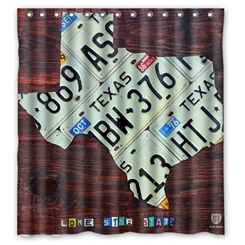 Image Unavailable Not Available For Color Texas License Plate Map On Fruitwood Shower Curtains