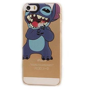 Sufs - Carcasa para iPhone, transparente, diseño de Disney, Stitch 1, iPhone 5/5S