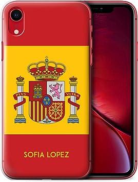 eSwish Personalizado Bandera Nacional Nación Personalizar Funda para el Apple iPhone XR/Español/De/España Diseño/Inicial/Nombre/Texto Carcasa/ Estuche/Case: Amazon.es: Electrónica