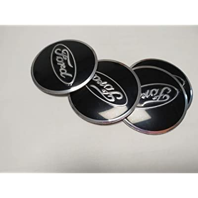 4PCS 56mm for Ford Wheel Cover Sticker Logo Badge Wheel Center Cover for Ford Series (Black): Automotive
