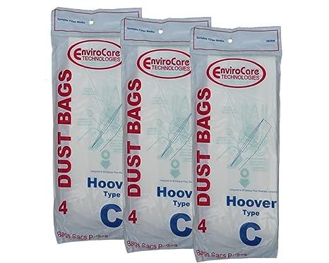Amazon.com: 12 Hoover de Tipo C aspiradora bolsas para ...