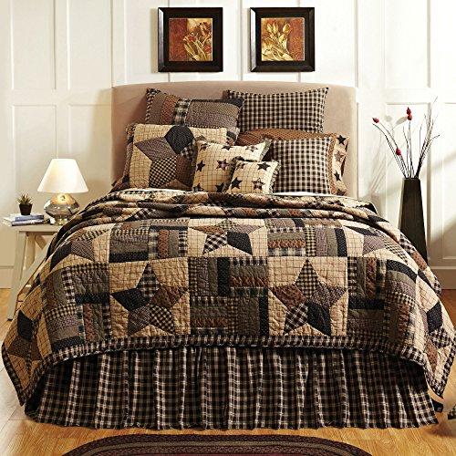 VHC Brands Bingham Star 9374 Quilt, Queen (Primitive Country Comforter Set)