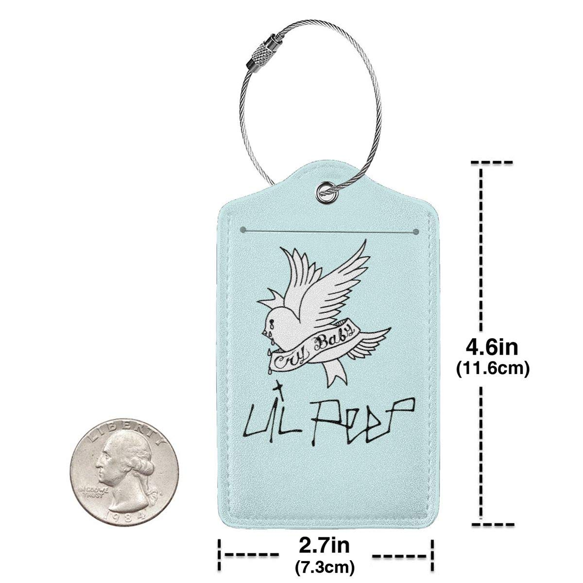 Lil Peep Letter Printed Leather Luggage Tag Travel ID Label For Baggage Suitcase
