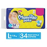 MamyPoko Pants Standard Diapers, Large (Pack of 34)