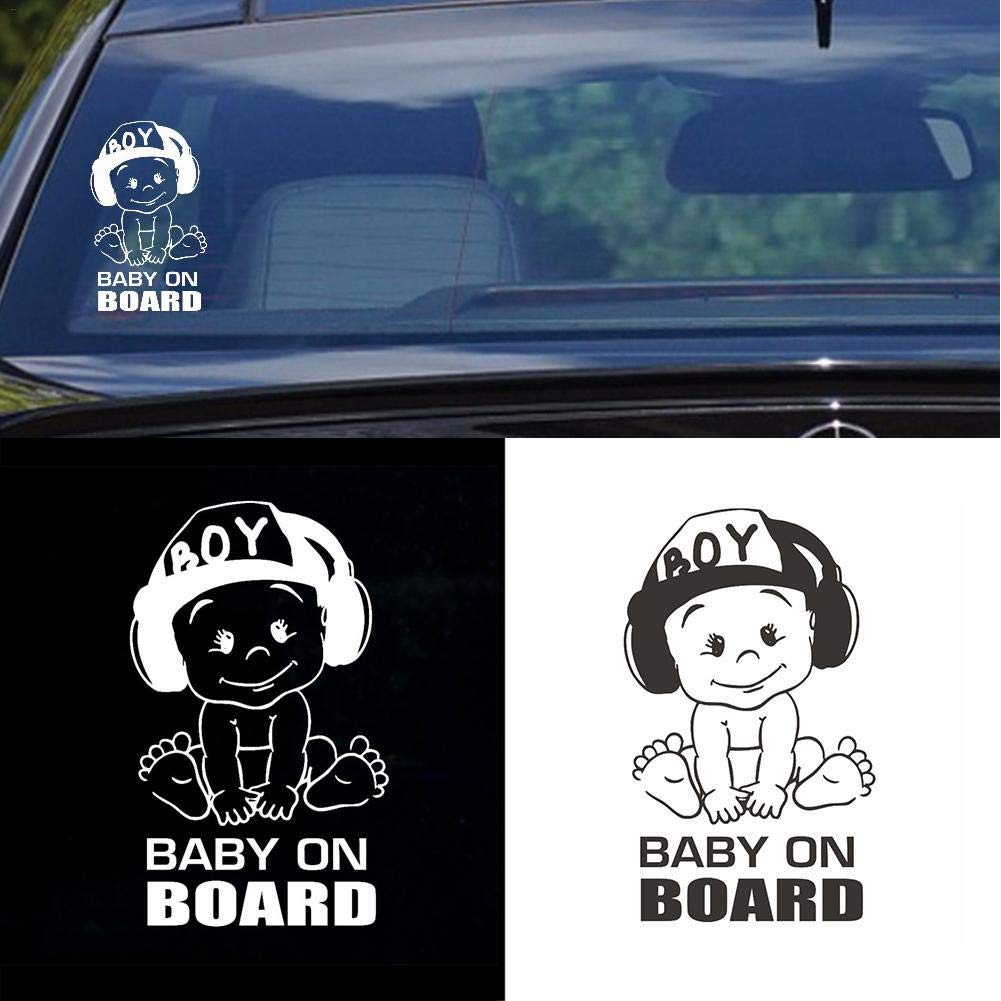 Kreativ BABY ON BOARD Warnschild Sicherheit Aufkleber PET Auto Aufkleber