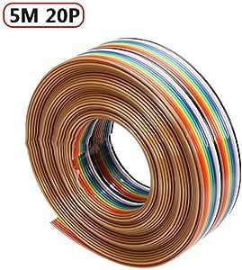 MCLseller - Cable de puente (5 m, 1,27 mm, 20P, accesorio de ...
