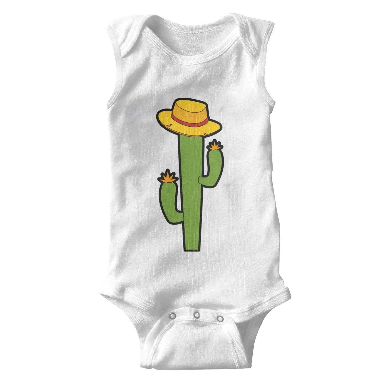 Unisex Tank Top Mexican Cactus with Hat Baby Onesies Bodysuit Jumpsuit Waistcoat Godfer Arabe