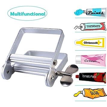 Atfung - Exprimidor de pasta de dientes de metal, tubo de pintura para artista, peluquería, pintura.: Amazon.es: Hogar