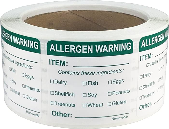 The Best Food Allergy Stickers