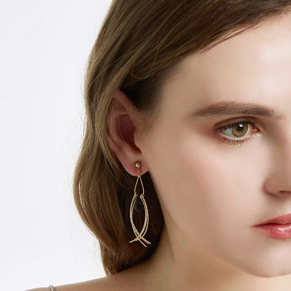 Gravan Drop Dangle Earrings Long Threader for Women Girls