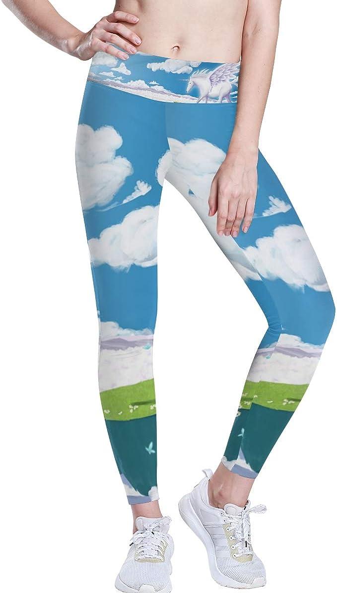 DEZIRO Pantalones de yoga de cintura alta con unicornio ...
