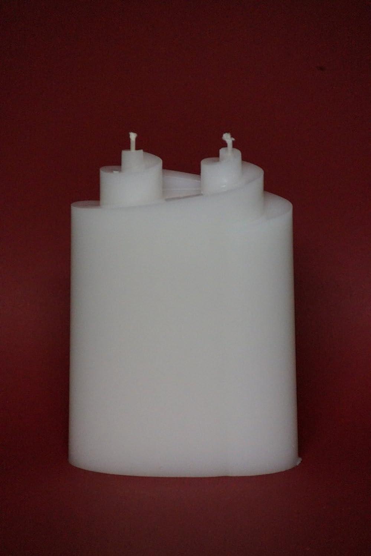 Kerzenrohling FormenkerzeDoppelspirale ; f/ür Taufkerzen und Hochzeitskerzen ; L-12