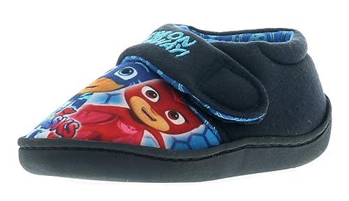 PJ Masks Romeo Niños Pantuflas Azul Marino - Azul Marino - GB Tallas 4-10