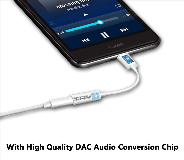Adaptador USB C a 3,5 mm, AUX Tipo C a 3.5 mm Auriculares ...