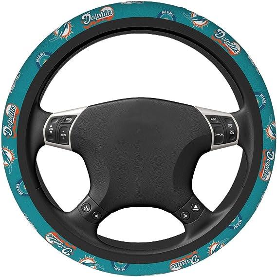 SLS FANMats Texans Premium Rubber Grip Black Steering Wheel Cover Football