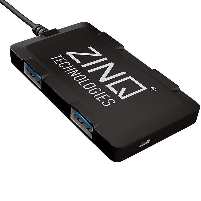 Zinq Technologies ZQ4H Hi-Speed 4 Port Ultra Slim USB Hub