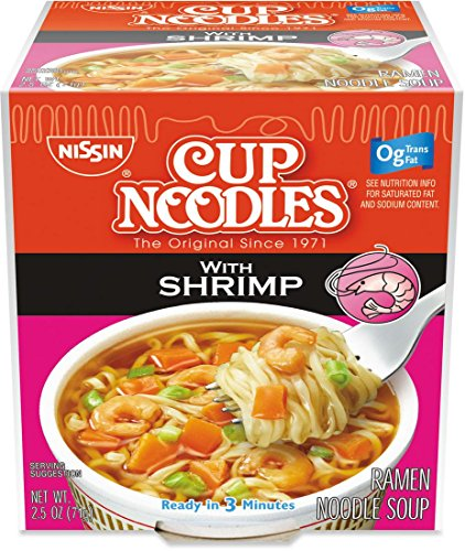 Soup Shrimp Noodle (Nissin the Original Cup Noodles with Shrimp Twenty-four 2.5 Ounce Ramen Cups)