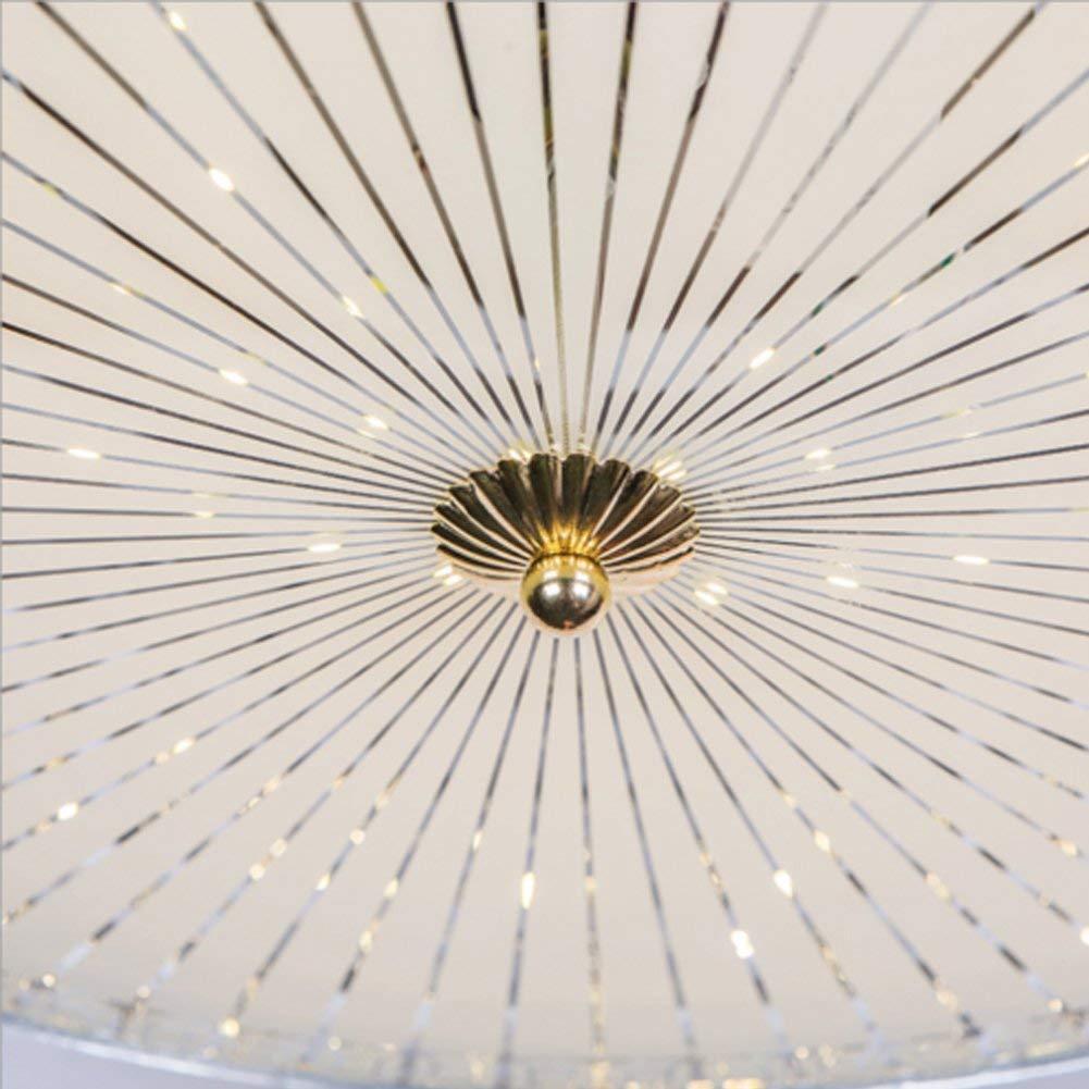 Rose Gold 2, 42 in Masrou LED Invisible Ceiling Fan Light 4 Retractable Blades LED Ceiling Fan 3 Color Change Crystal Modern Crystal Remote Control for Restaurant Bedroom Living Room Dinning Room