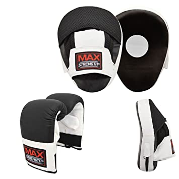 86ec37016267 POWERSTAR Focus Pads Boxing Gloves Set Hook and Jab Boxing Sparring MMA Gym  Training Kit Boxercis