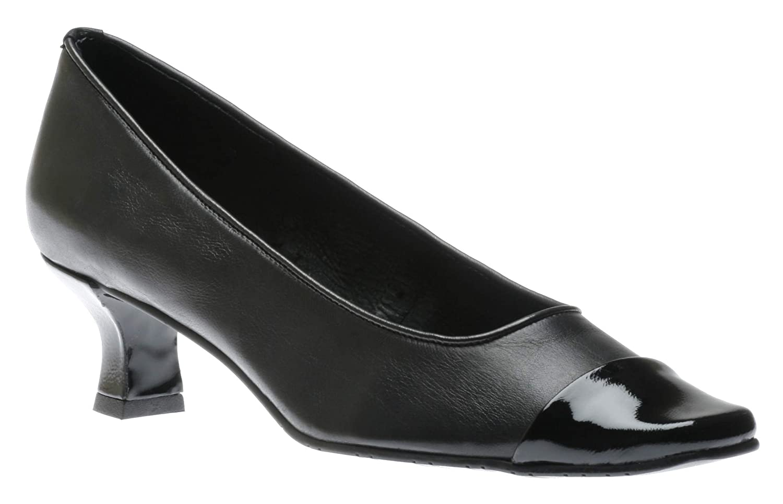 Size 8.0 Black//NAT Na VANELi Womens Rickie Leather Cap Toe Classic Pumps