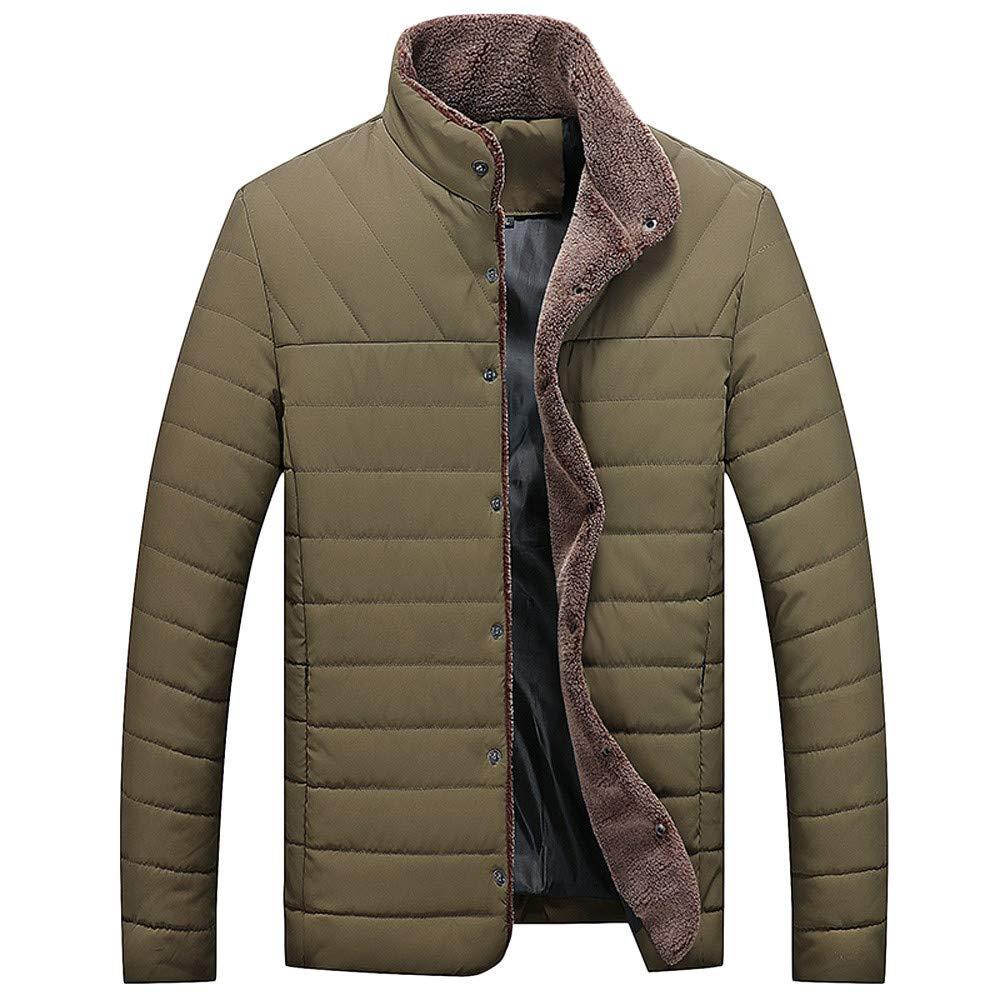 Allywit Men's Lightweight Stand Collar Packable Down Jacket Fleece Big and Tall