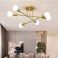Vintage Lámpara Colgante de Techo con 6 Luces E27 Lámparas de techo en Metal…