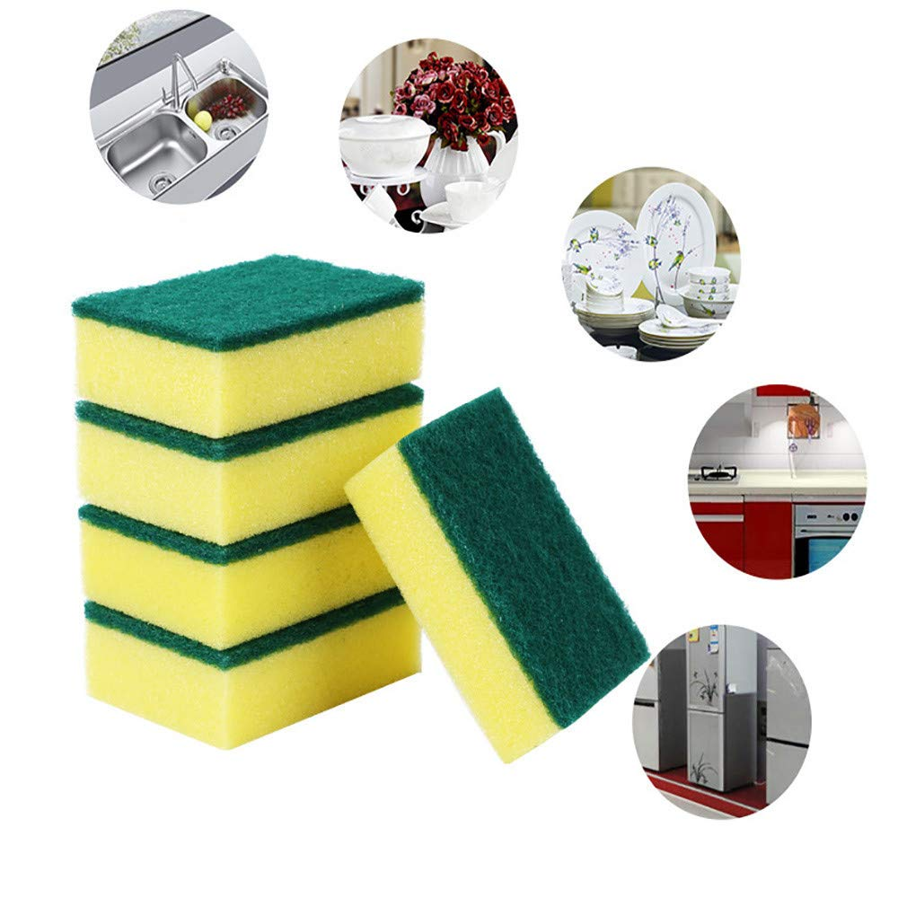 ForgetMe Heavy Duty Catering Sponges/Scourers for Kitchens Bathrooms and Heavy Duty Cleaning, Heavy Duty Multi Use Cleaning Sponges Rub Non-Scratch Magic Eraser Sponge Scrubbing Dish Sponges Use