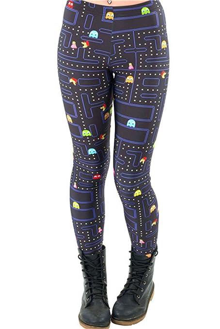 bda0ca05dad31 M-ONEZOU Black Milk Maze Print Pacman Women Leggings Skinny Long Leggins  Women Pant KDK1394