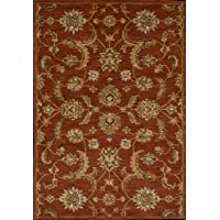 Nourison 10295 India House Area Rug Collection Brick 2 ft 3 inch x 7 ft 6 inch Runner