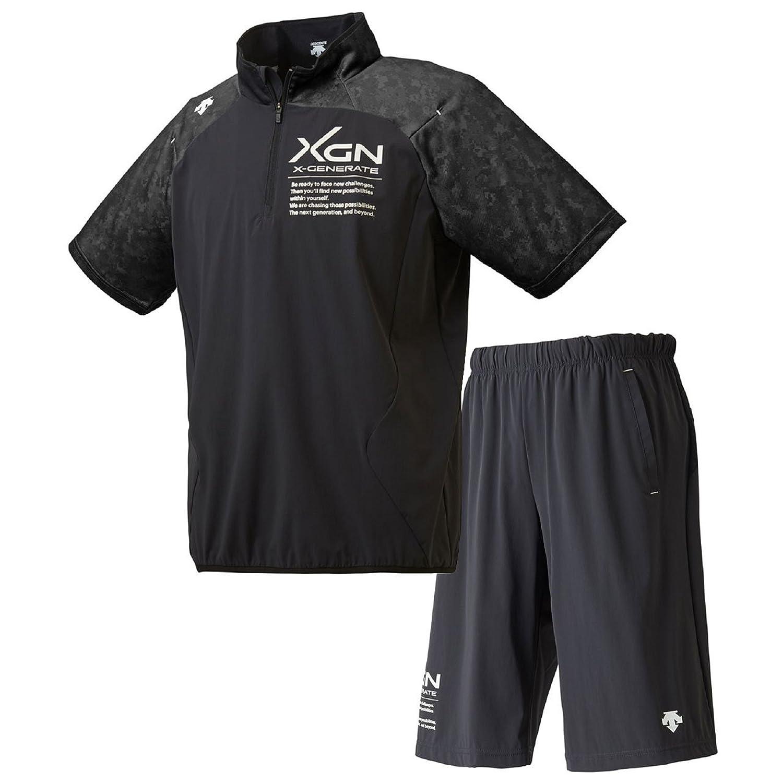 デサント(DESCENTE) XGN 襟付きハイブリッドシャツ&ハーフパンツ上下セット(ブラック/ブラック) DBMLJF30A-BLK-DBMLJG30-BLK B07C1JG4LMブラック/ブラック 日本 O-(日本サイズ2L相当)
